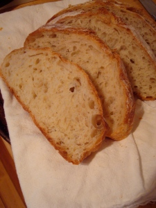 Sliced No-Knead Artisand White Bread