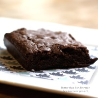Chewy Brownies (that taste like Ghirardelli box mix, but better)