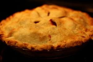 Raspberry (Blackberry) Plum Pie