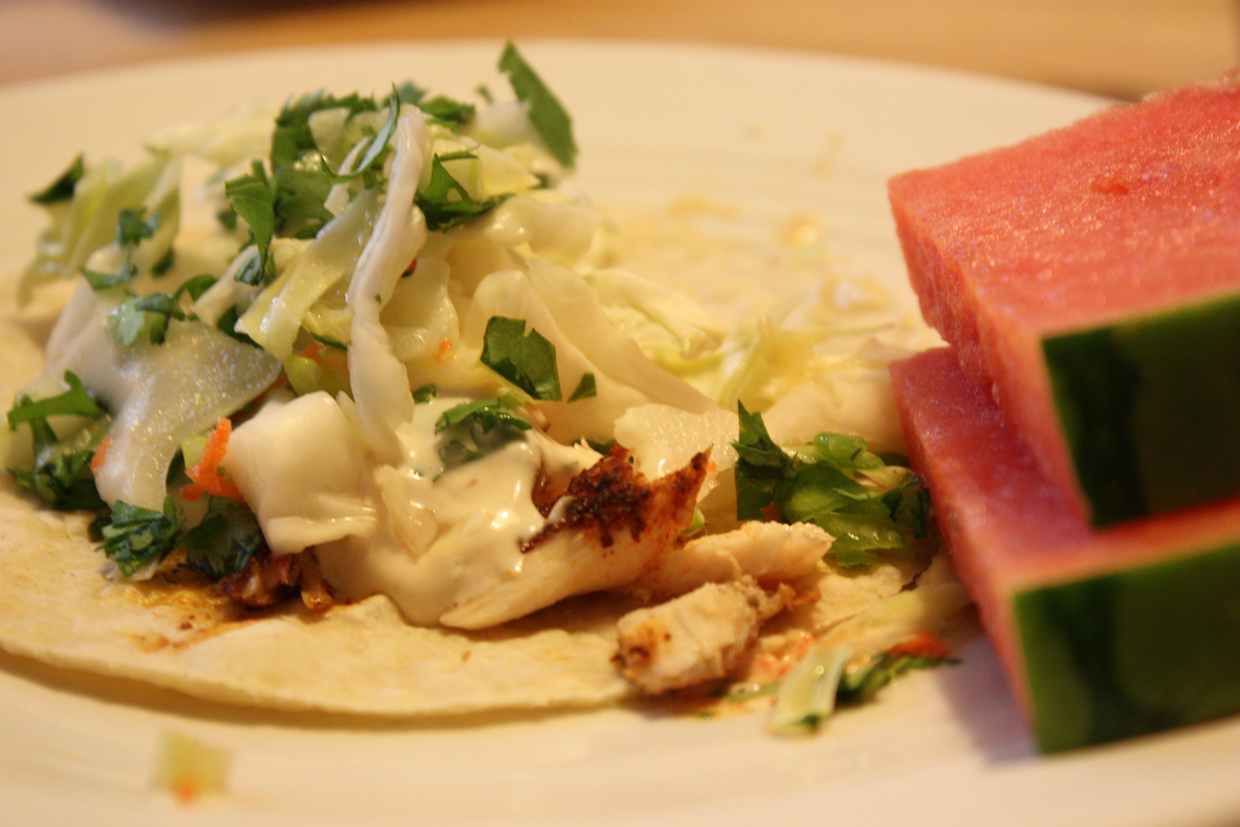 Baja fish taco bees knees recipes for Baja fish taco recipe