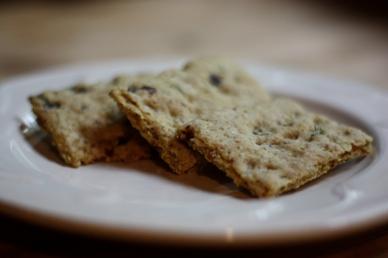 Rosemary Raisin Crackers