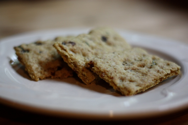 Rosemary Raisin Crackers