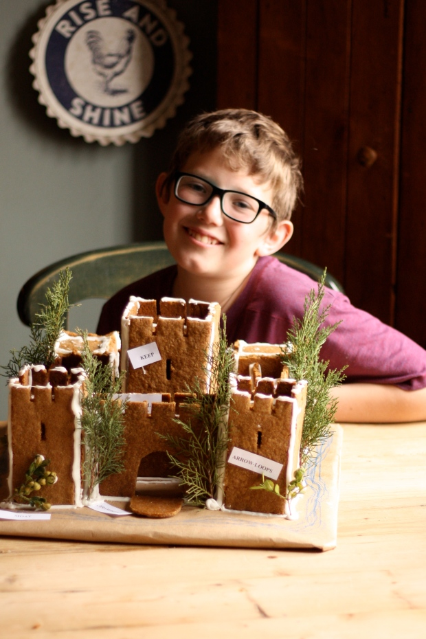 gingerbread castle with henry