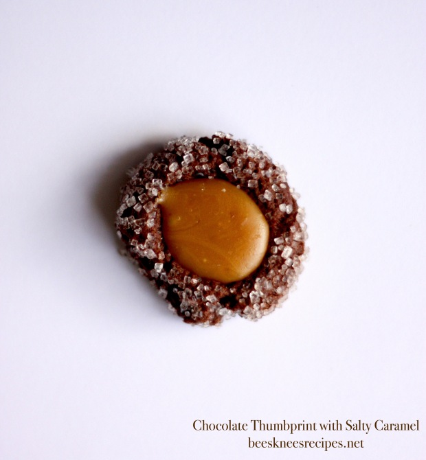 Chocolate Thumbprint with Caramel