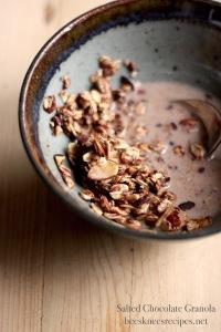 Chocolate Granola Spoon