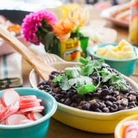 Cumin-Infused Black Beans