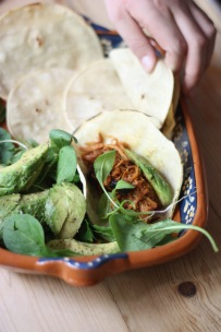 Pork Carnitas with lettuce