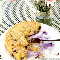 Buttery Blueberry Crumb Cake