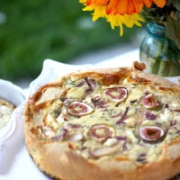 Pear, Fig & Onion Quiche
