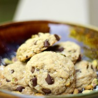 Coconut & Pistachio Chocolate Chip Cookies